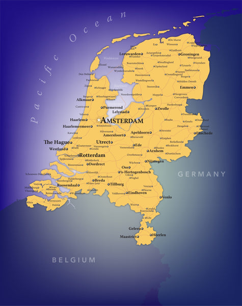 Netherlands Wall Map
