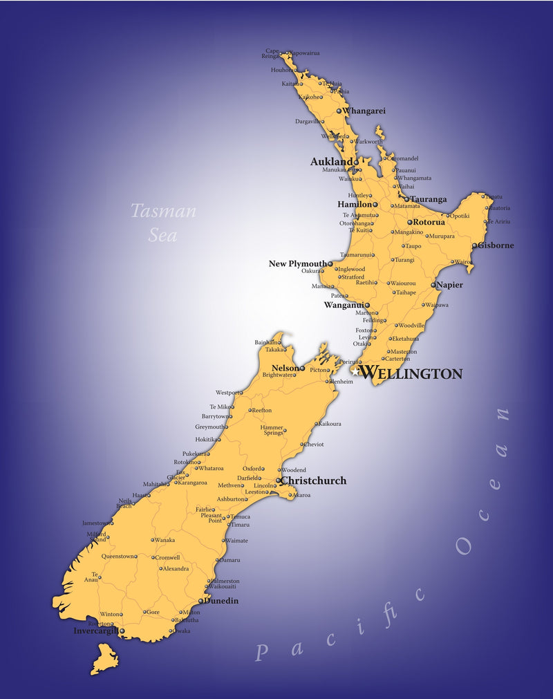 New Zealand Wall Map