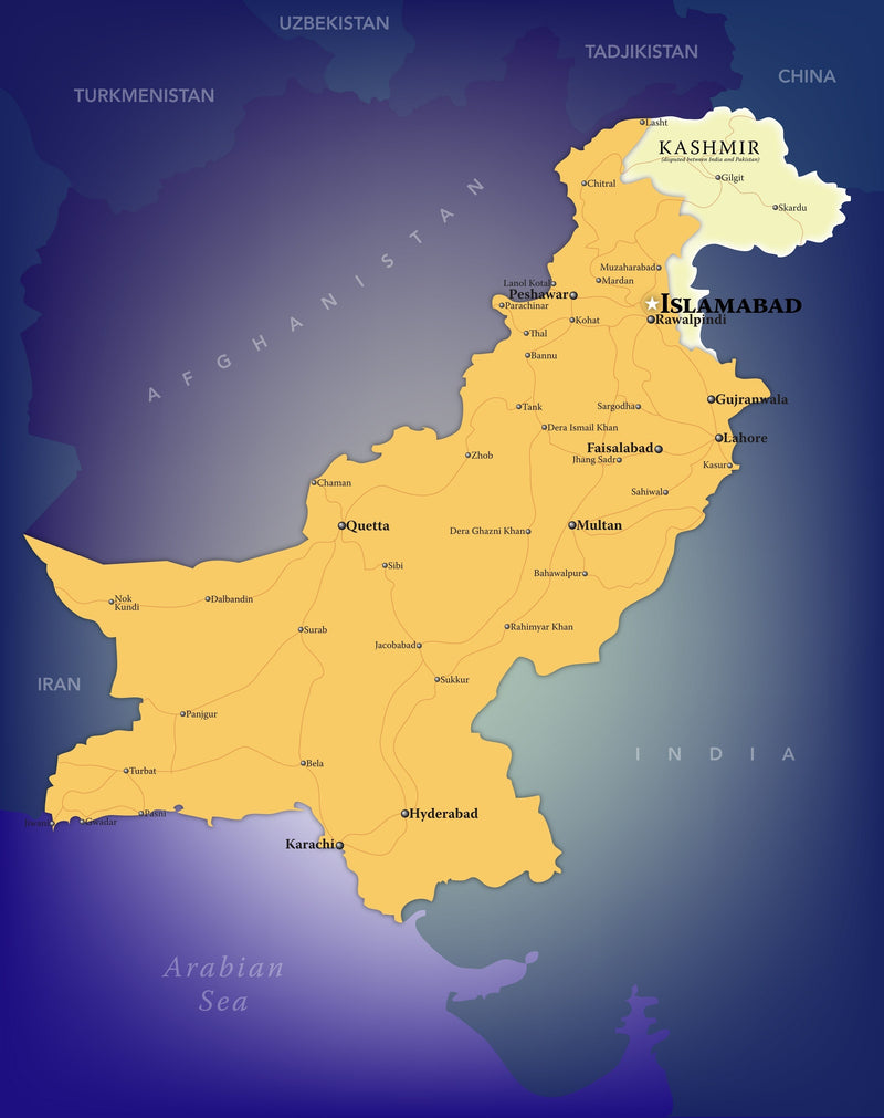 Pakistan Wall Map