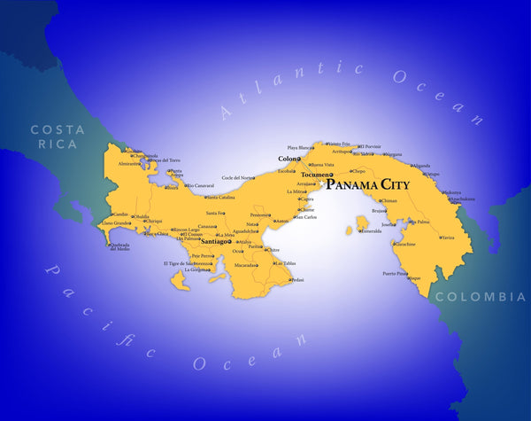 Panama Wall Map