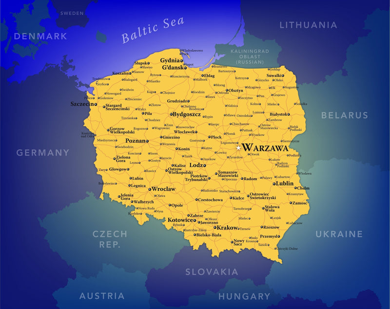 Poland Wall Map