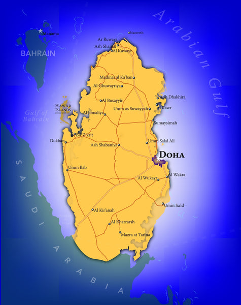 Qatar Wall Map
