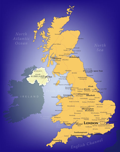 United Kingdom Wall Map