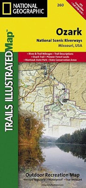 Ozark National Scenic Riverways, Folded Map by National Geographic