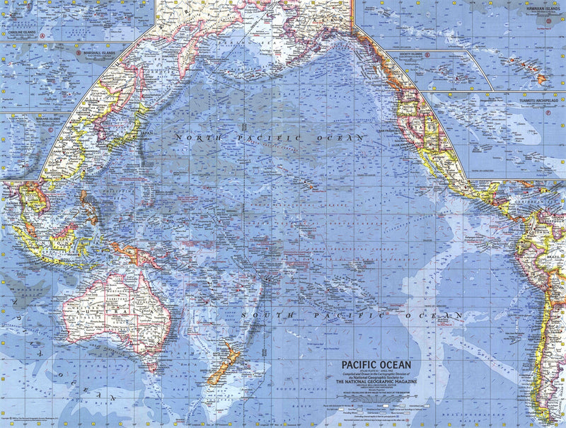 Pacific Islands Map 1962