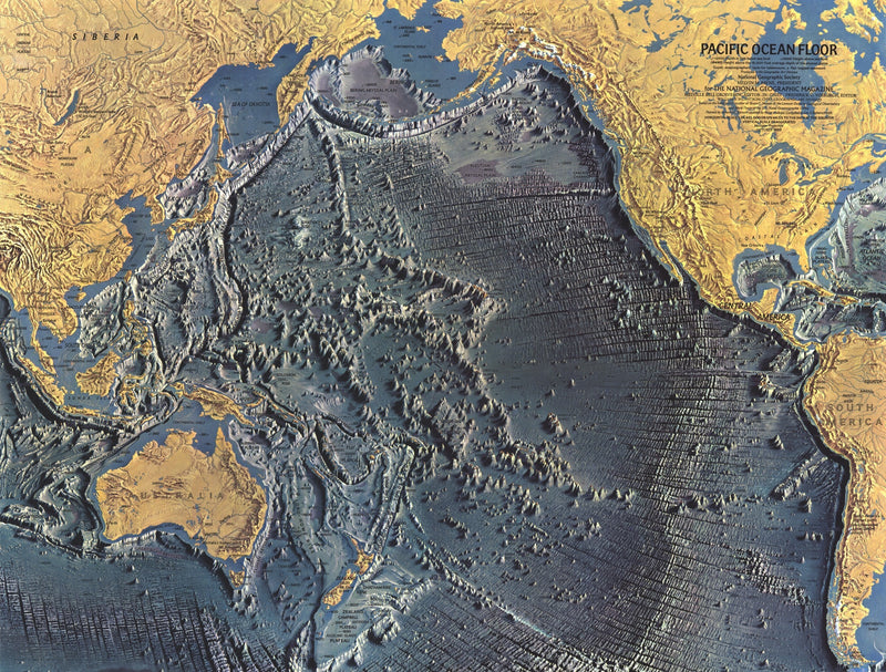 Pacific Ocean Floor Map 1969