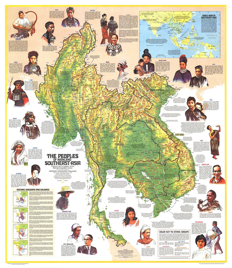 Peoples Of Mainland Southeast Asia Map 1971