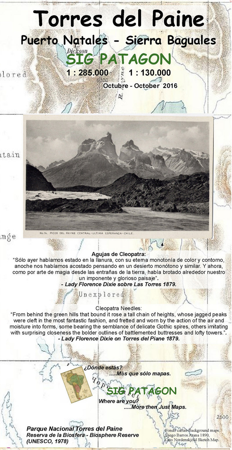 Torres del Paine Travel Map (Spanish Edition)
