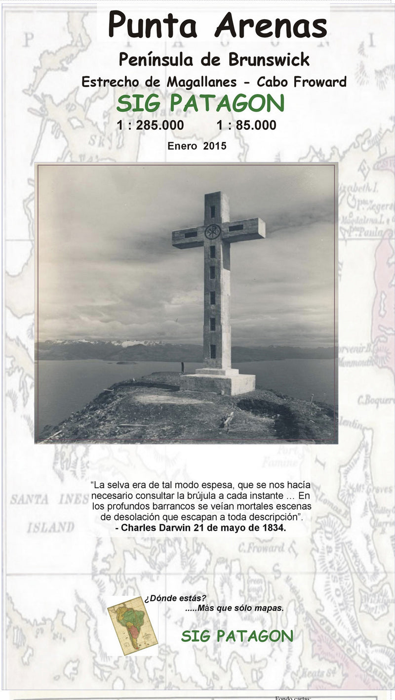 Punta Arenas Brunswick Peninsula Travel Map (Spanish Edition)