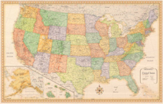 Rand McNally Classic Series USA Wall Map