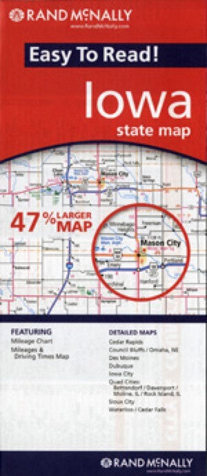 Rand McNally Iowa Travel Map