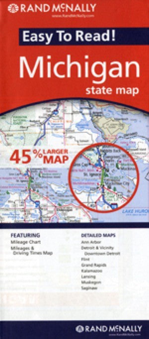 Rand McNally Michigan Travel Map