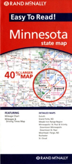 Rand McNally Minnesota Travel Map