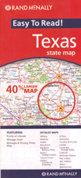 Rand McNally Texas Travel Map