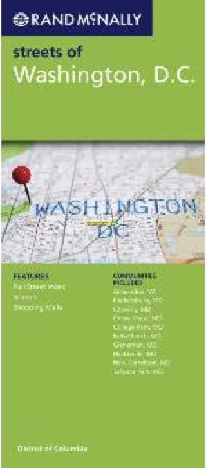 Rand McNally Washington DC Travel Map