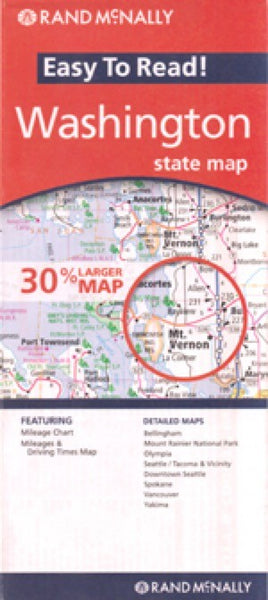 Rand McNally Washington Travel Map