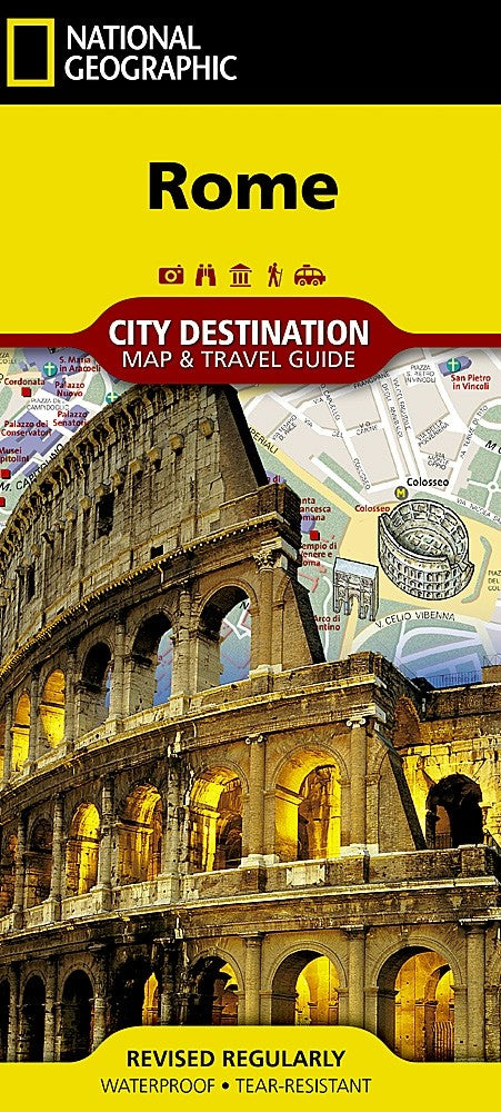 National Geographic Rome, Italy Destination Map