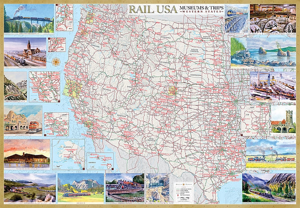 Cover of Rail U.S.A., Western States, Museums & Trips - Laminated