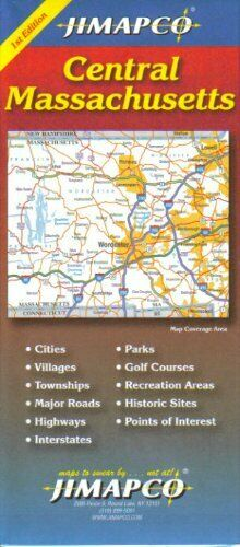Cover of Central Massachusetts Road Map by Jimapco