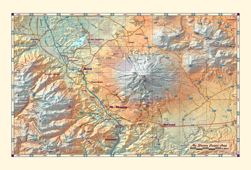 Mt. Shasta Area Wall Map