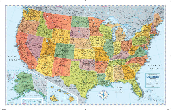 Rand McNally Signature Series USA Wall Map