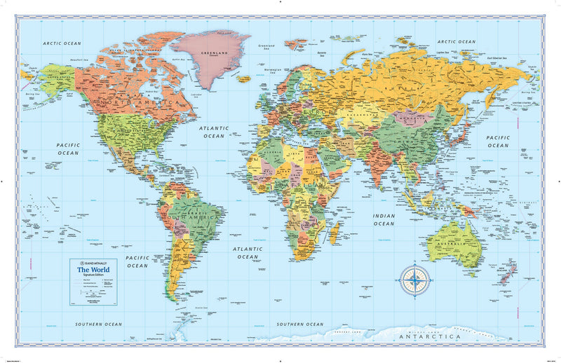Rand McNally Signature Series World Wall Map