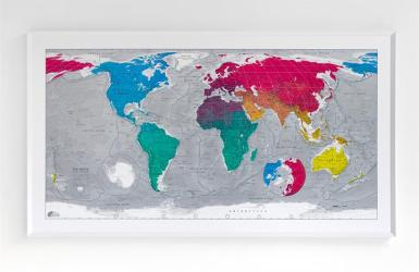 Colour Map - Version 3 World Map by Future Mapping Company