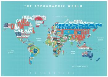 Graphic Map World - flags by Oxford Cartographers