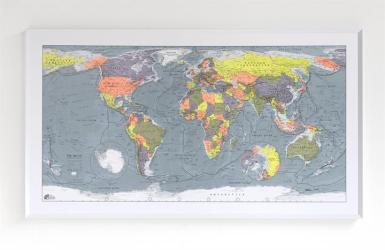 Colour Map - Version 2 World Map by Future Mapping Company