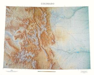 Colorado, Physical, Laminated Wall Map by Raven Maps