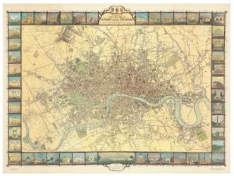 Historic Map of London in 1851 by Oxford Cartographers