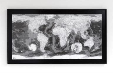 Classic World Map: Monochrome by Future Mapping Company