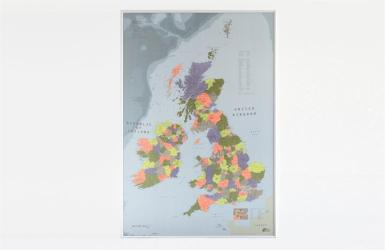 Multicolor British Isles Map by Future Mapping Company