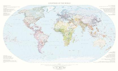 Countries of the World, Political Wall Map by Raven Maps