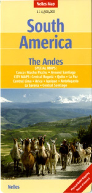 South America, Western, The Andes Travel Map