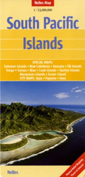 South Pacific Islands Travel Map