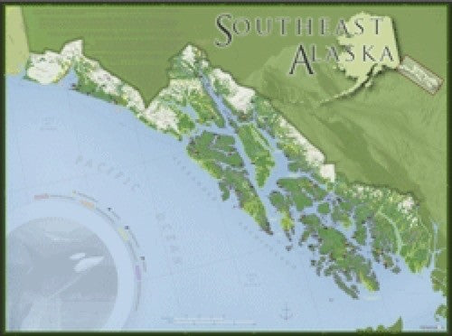 Southeast Alaska Wall Map