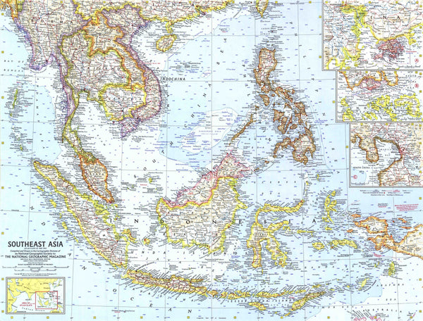 Southeast Asia Map 1961