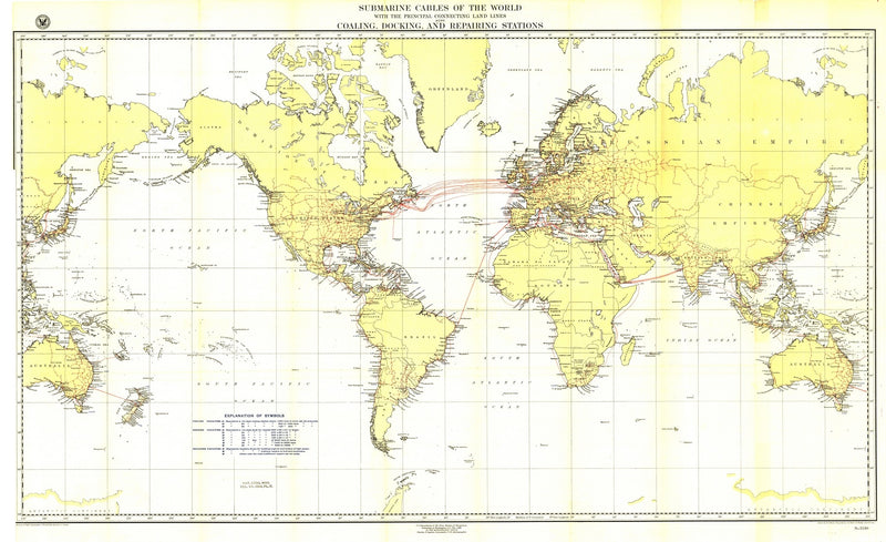 Submarine Cables Of The World Map