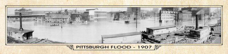 Historic Panorama of Pittsburgh, PA, Flood 1907