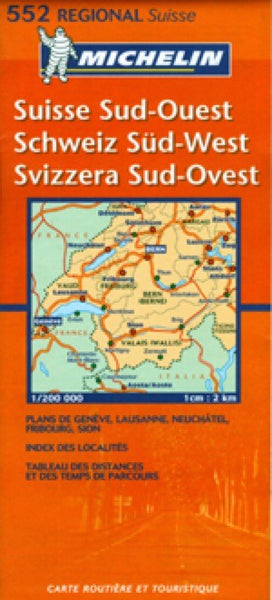 Switzerland, Southwest Travel Map