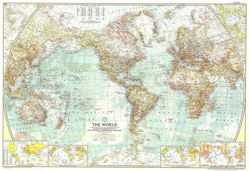 The World Map 1957