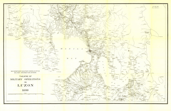 Theatre Of Military Operations In Luzon, 1899 Map