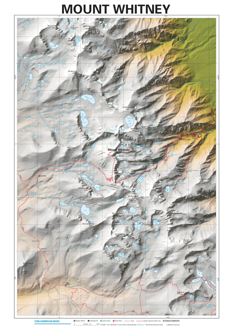 Mount Whitney Wall Map