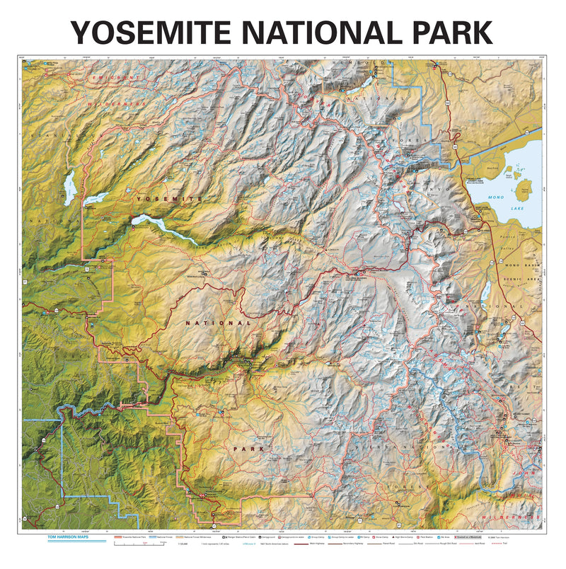 Yosemite National Park Wall Map