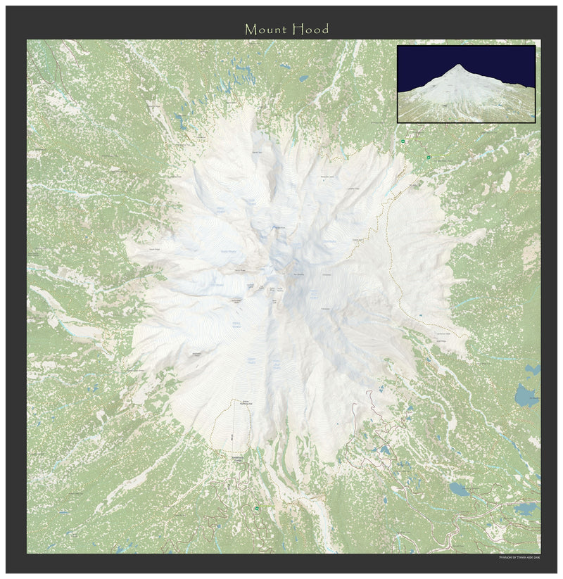 Mount Hood Wall Map