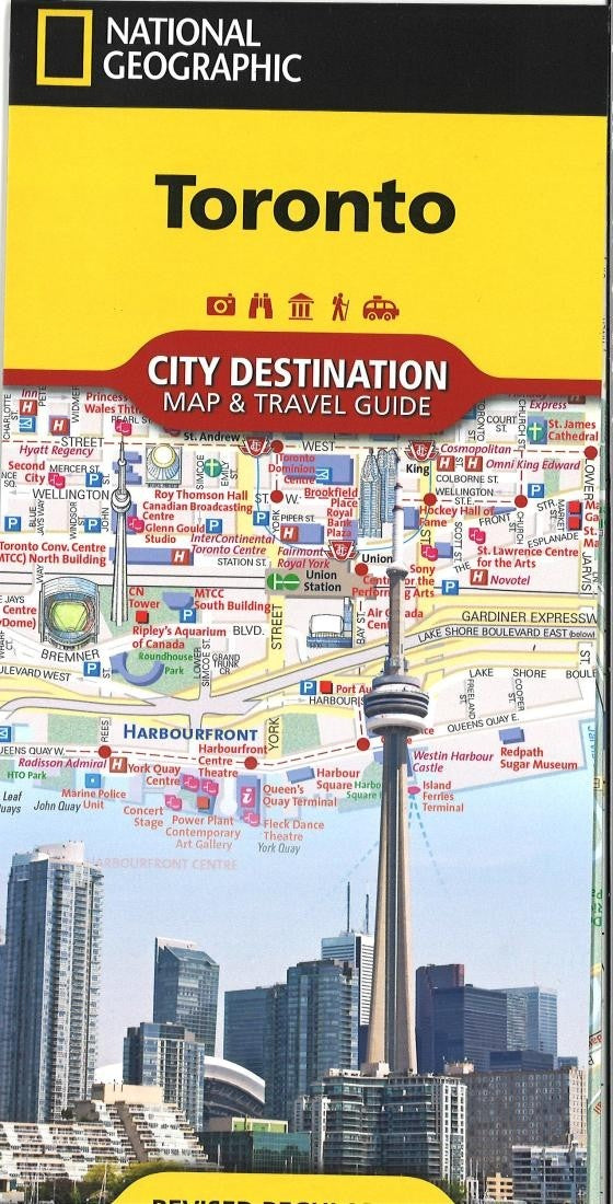 Toronto, Ontario City Destination Map and Travel Guide by National Geographic Maps