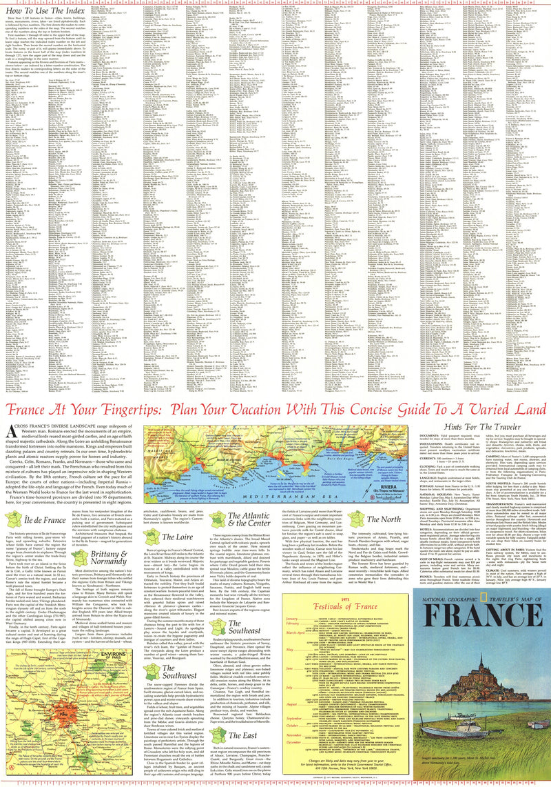 Travelers Map Of France Map 1971 Side 2