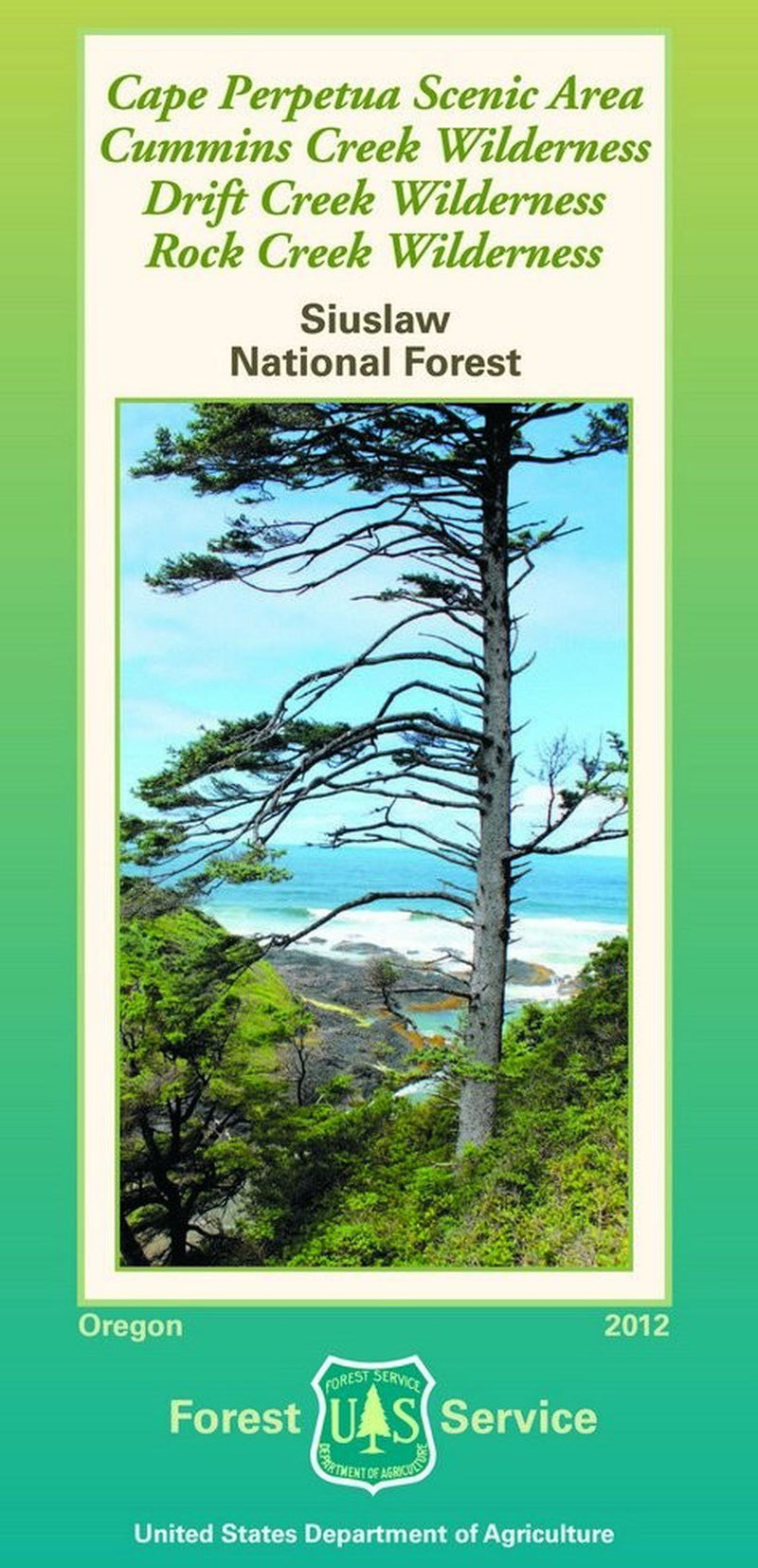 Cover of Siuslaw National Forest Wilderness Areas Map by U.S. Forest Service