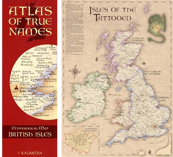 Cover of Atlas of True Names, Etymological Map British Isles